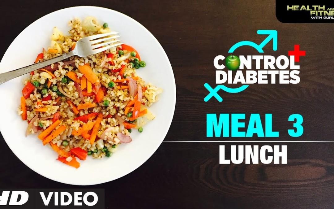 CONTROL DIABETES   Meal 03 (Lunch)   Program by Guru Mann