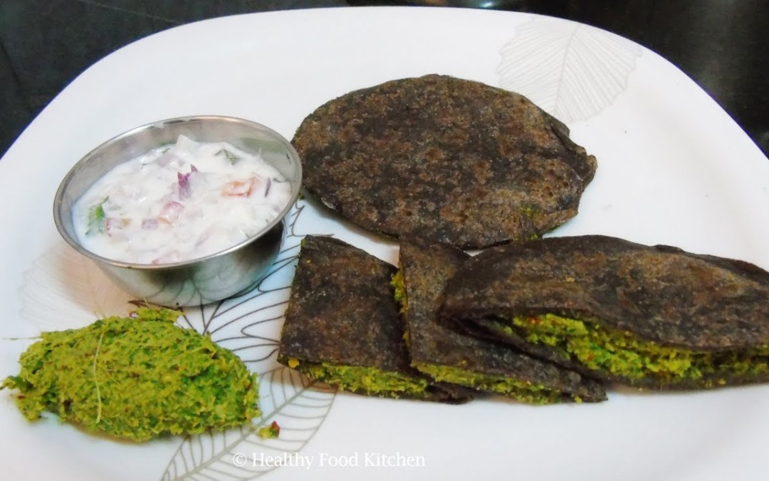 Healthy Breakfast Menu  3 – Diabetic Breakfast Menu – Weight Loss Recipe – Ragi Paratha Recipe