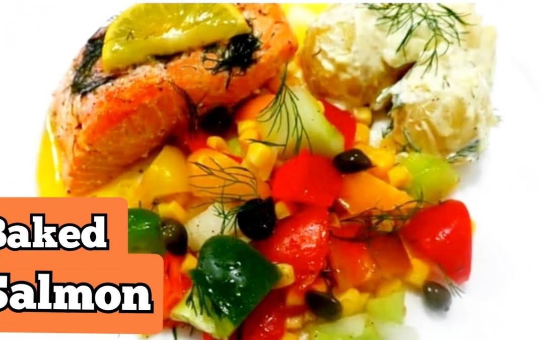 BAKED SALMON RECIPE    LEMON #BAKEDSALMON RECIPE  DIABETIC DIET   HEALTHY RECIPE    #WEIGHTLOSSDIET