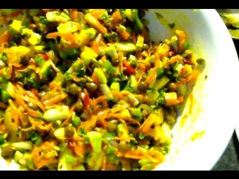 Easy thadka salad-Raw food, Diabetic & Weight loss recipe