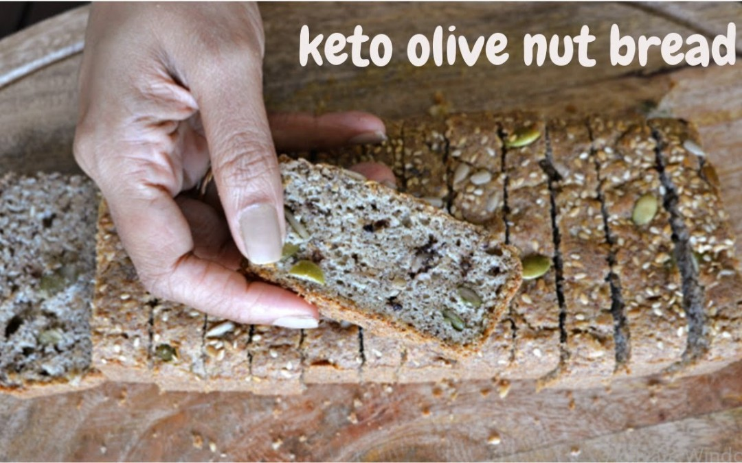 Keto Olive Nut bread | Gluten free nut bread | Diabetic friendly bread