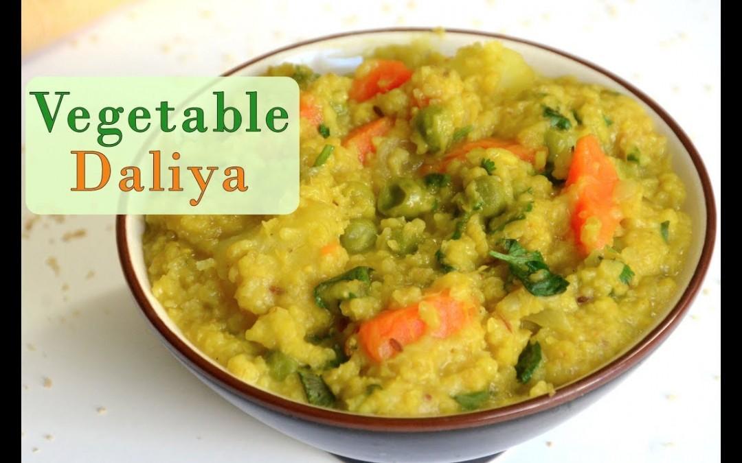 Namkeen Vegetable Daliya | Vegan Indian Breakfast Lunch Recipe | Diet Food | Cracked Wheat Recipe