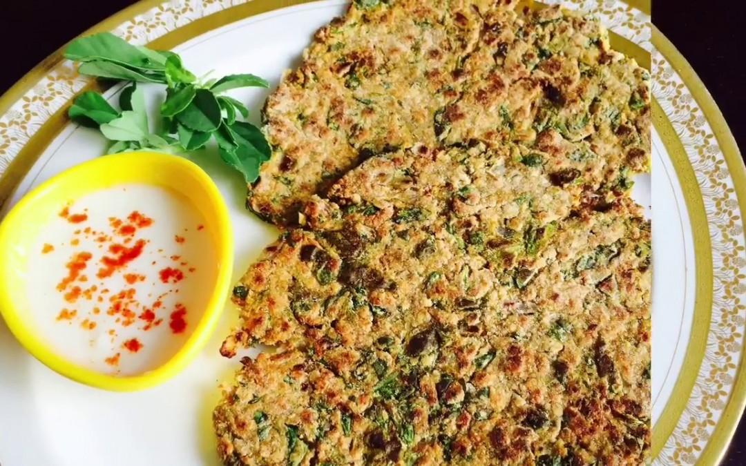 OATS METHI THEPLA/ OATS FENUGREEK LEAVES FLAT BREAD/ Diet Special- Sabaz Kitchen