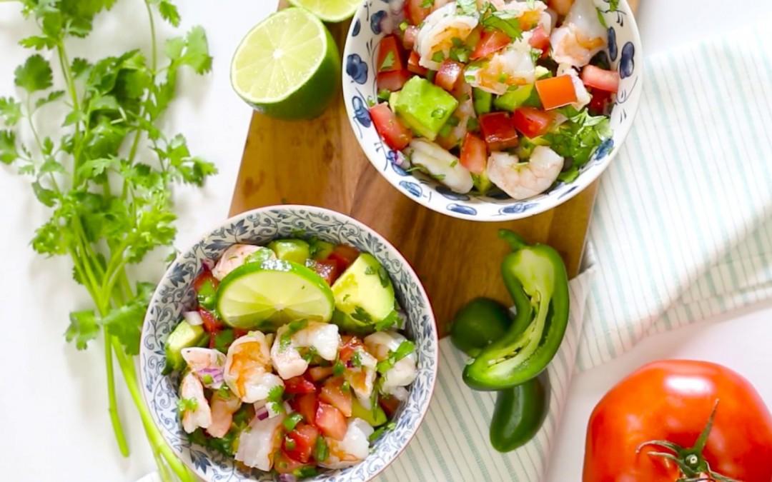 Zesty Lime Shrimp & Avocado Salad