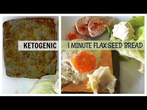 1 Minute Flax Seed Bread   Ketogenic   Low carb