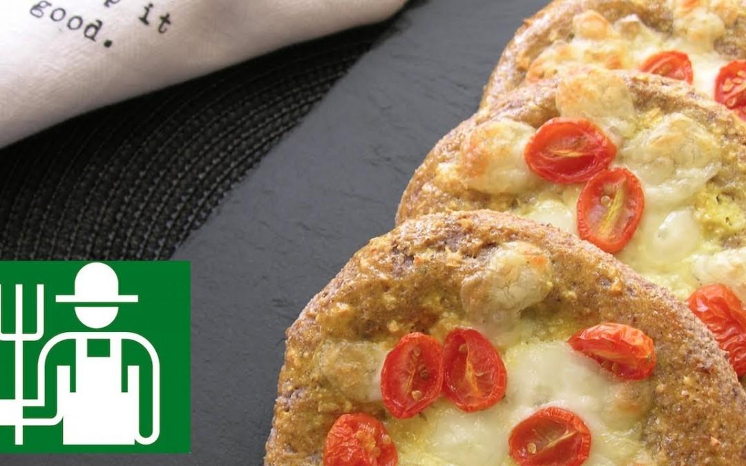 Low carb bread recipe   Cheesy Garlic Bread   Cheese Bialy  