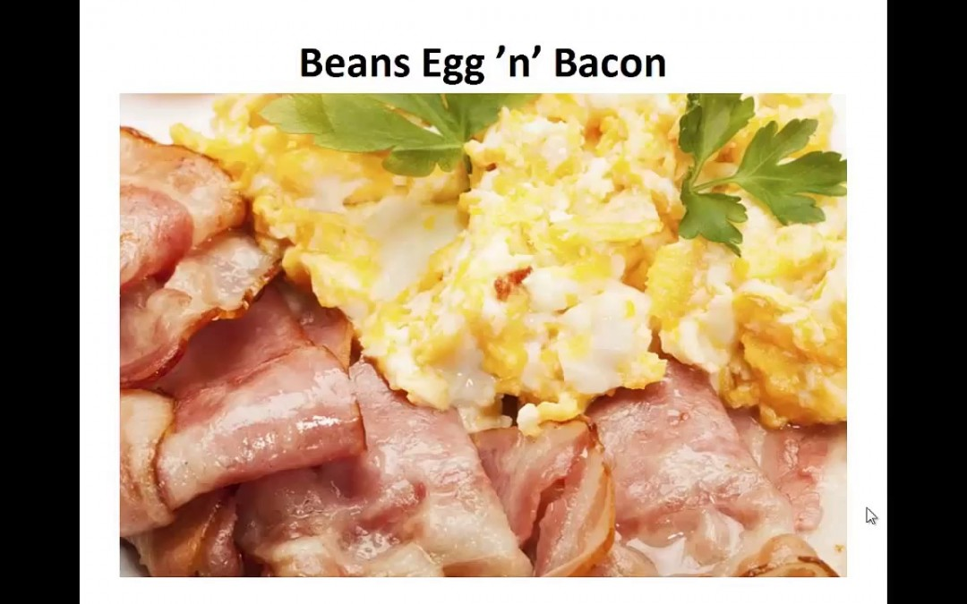 Paleo Diet Breakfast – Beans Egg And Bacon By A Former Diabetic.mp4