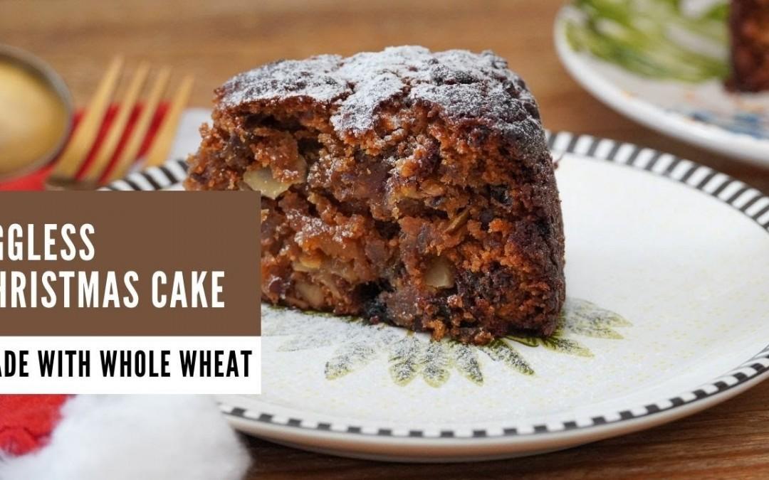 Eggless Christmas Cake Recipe – Whole Wheat Eggless Plum Cake – Cake Recipes by Archana's Kitchen
