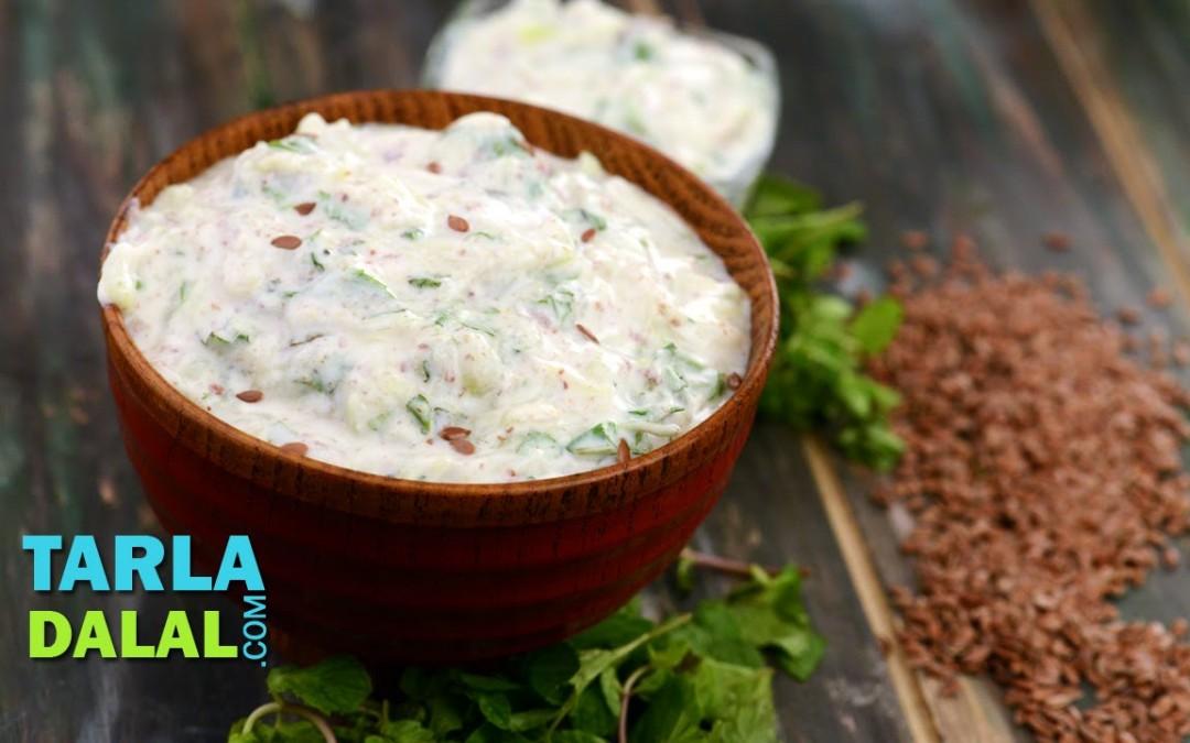 Flax Seed Raita (Omega — 3 Fatty Acids and Calcium Rich) by Tarla Dalal