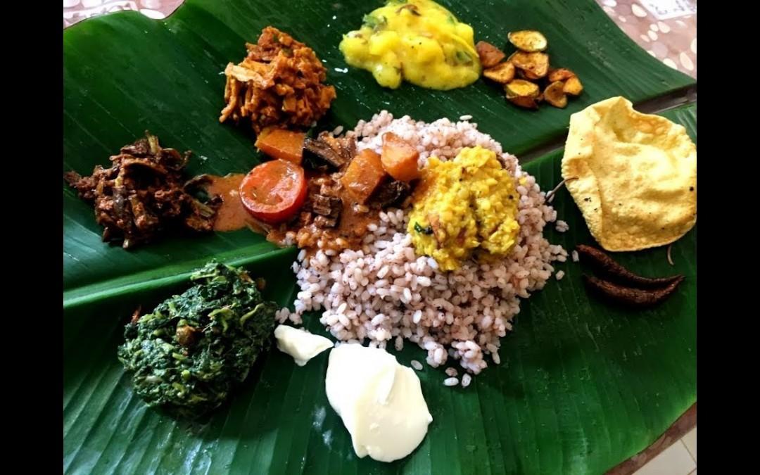Full Vegetarian Meal On Banana Leaf Recipe In Sri Lankan Style