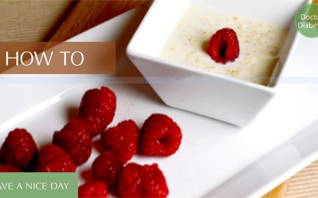 Healthy diabetic recipes low calorie for control diabetes:  Porridge with Cinnamon