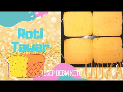 Roti Tawar Tanpa Tepung Gluten Free Resep DEBM Keto Diet Homemade Bread Recipe No Mixer