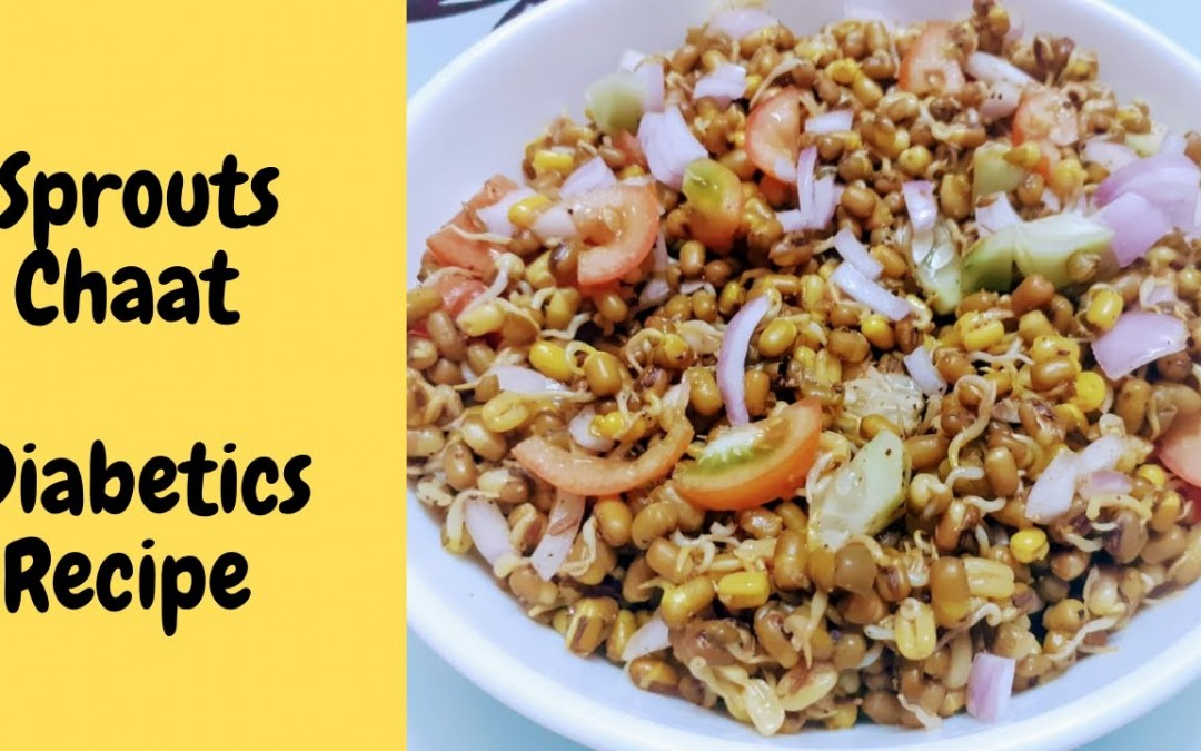 Sprouts Chaat for Diabetic Patients – Diabetic Sprout Salad Recipe|Healthy Diabetic Recipe – Chaat