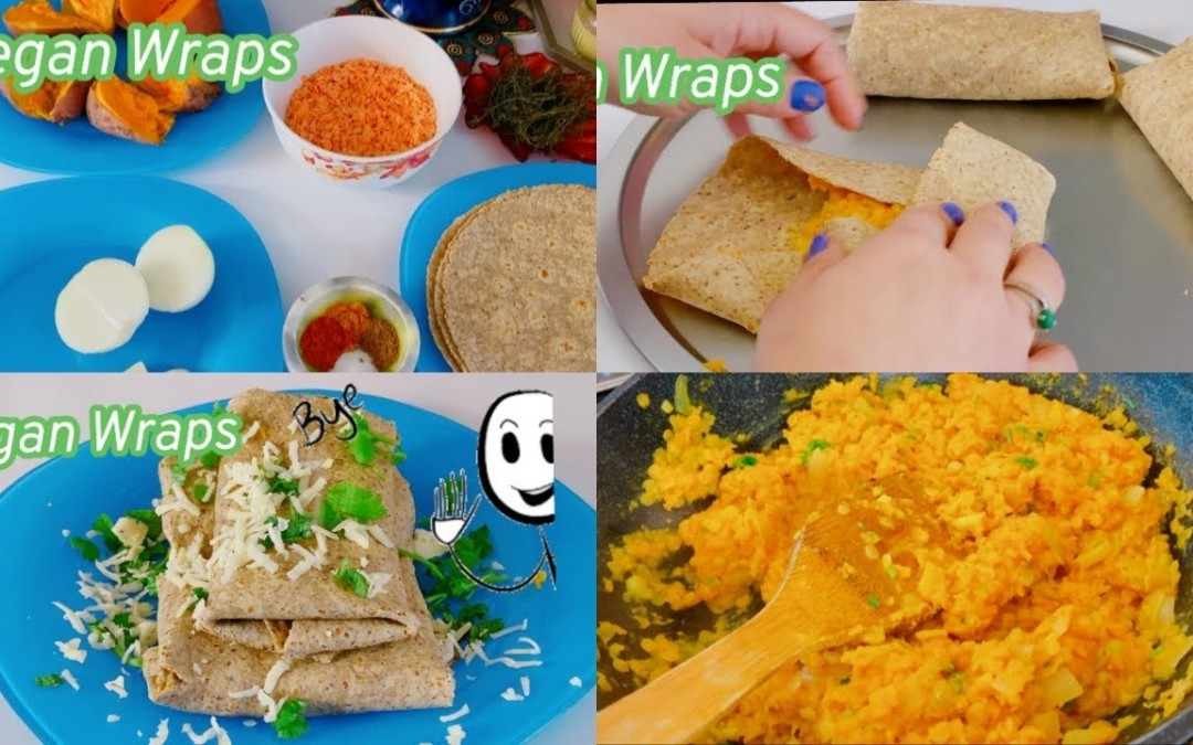 Vegan Wraps Recipes   Healthy Food   Diabetic Friendly Recipe  Vegetarian Recipe