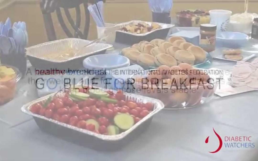 DIABETIC WATCHERS: BLUE FOR BREAKFAST