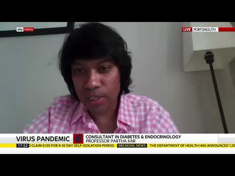 Sky News interview re BAME risks in COVID19 – and Low Calorie Diets in Type 2 Diabetes