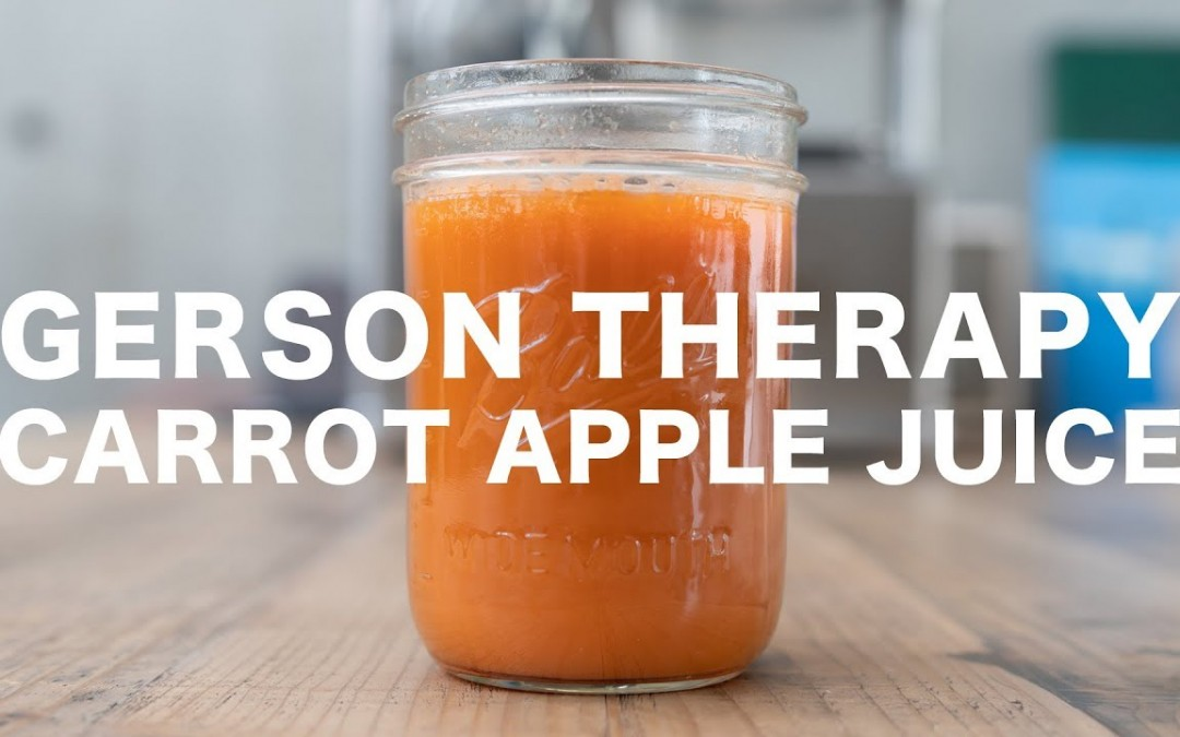 GERSON THERAPY // CARROT APPLE JUICE