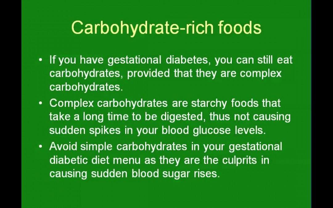 Gestational Diabetic Diet Meal Planning