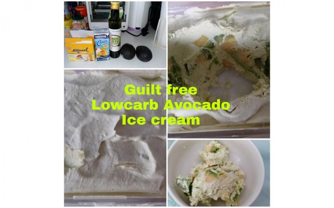 Guilt free lowcarb Avocado Icecream