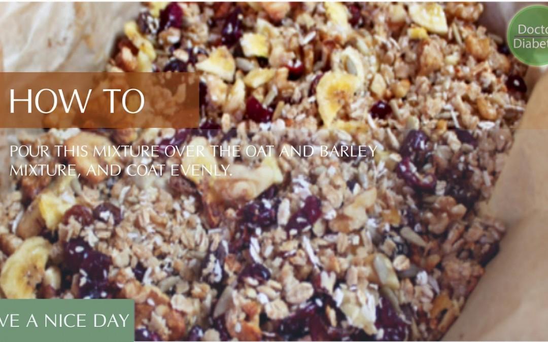 healthy diabetic recipes low calorie for control diabetes: Fruit & Nut Muesli