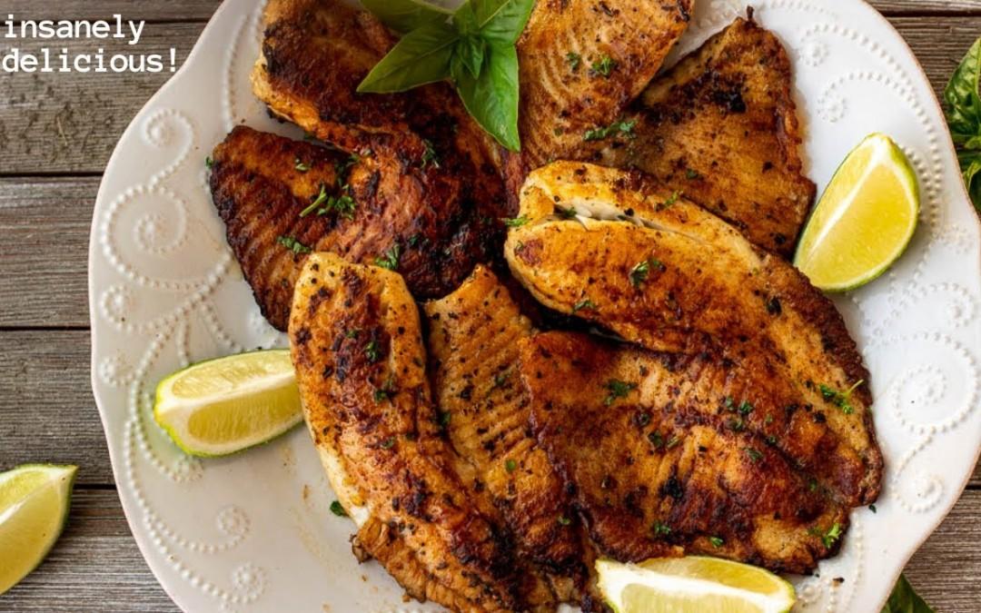 PAN SEARED TILAPIA || How To Make Fish Taste Good!