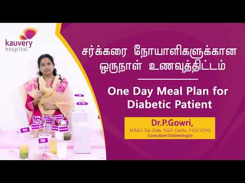 One day meal plan for Diabetic Patients   Dr Gowri, Consultant Diabetologist