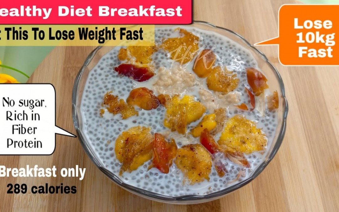Breakfast Recipe For Weight Loss | Sugar Free Diet Recipe | Chia Seed Pudding |Weight Loss Recipes