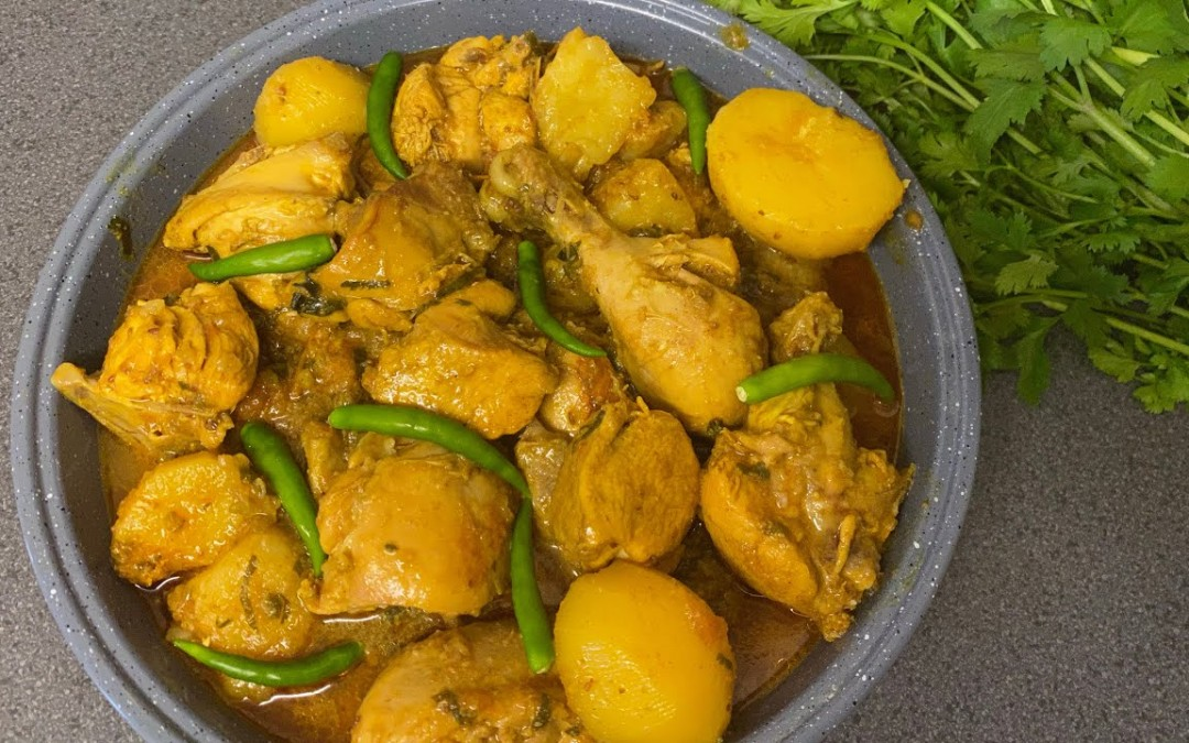 Chicken Curry With Potatoes   Chicken Aloo Curry   Simple Chicken Curry