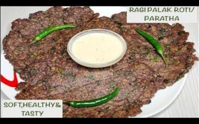 Healthy & tasty ragi palak roti/paratha/good for diabetics/Immunity booster diet