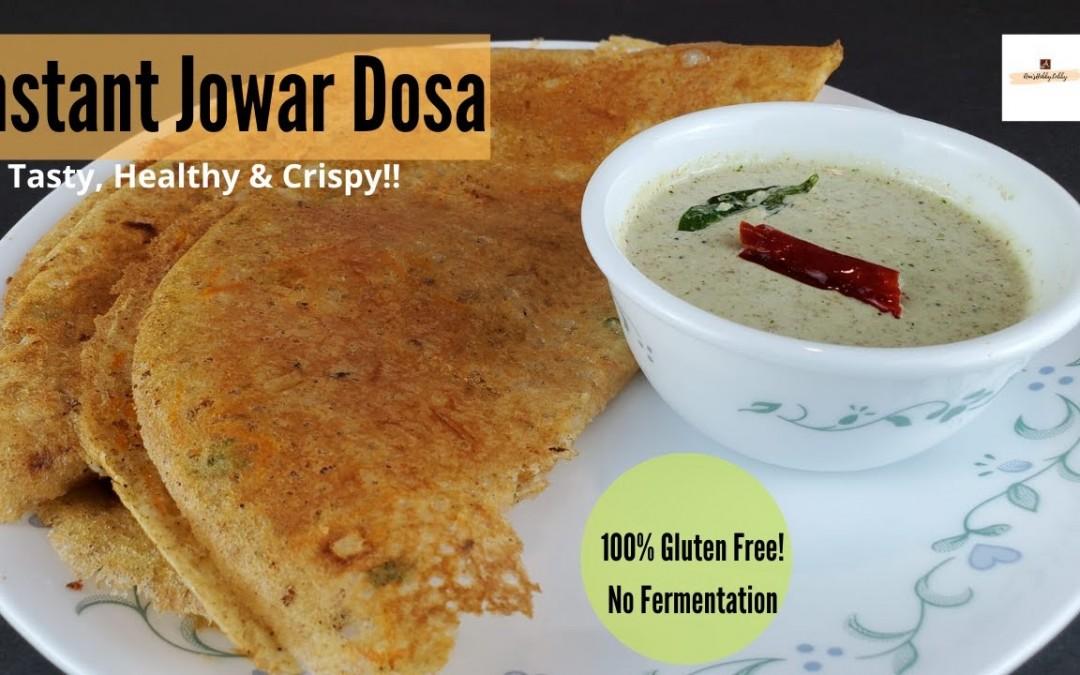 Instant Jowar Dosa |No Fermentation, No Rava and No Rice Flour Dosa Recipe